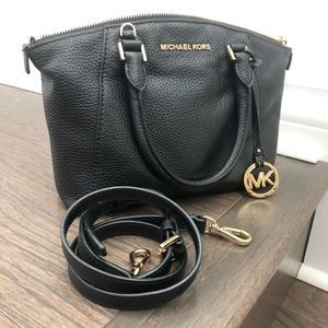 Michael Kors black bag with gold hardware